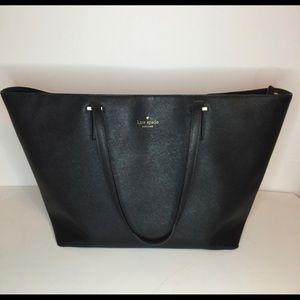 Large black Kate spade tote purse